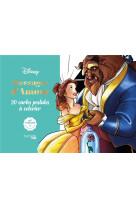 Cartes a colorier disney messages d-amour - 20 cartes postales a colorier