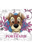 Carres art-therapie portraits disney