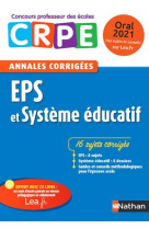 Annales corrigees eps et systeme educatif - oral 2020