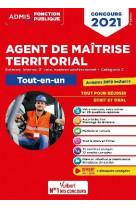 Concours agent de maitrise territorial - categorie c - tout-en-un - annales 2019 incluses - externe,