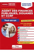 Concours commun agent des finances publiques, douanes et ccrf - categorie c - tout-en-un - externe e