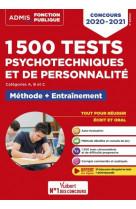 1500 tests psychotechniques et de personnalite - methode et entrainement intensif - concours 2020-20