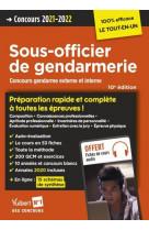 Concours sous-officier de gendarmerie - preparation rapide et complete a toutes les epreuves - annal