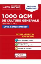 1000 qcm de culture generale - concours de la fonction publique - categories a, b et c