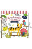 50 coloriages relaxants - animaux