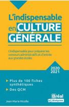 L-indispensable en culture generale - 2020-2021