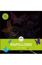 Cartes a gratter art-therapie papillons