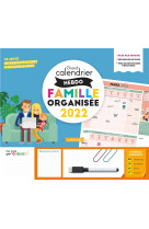 Grand calendrier hebdomadaire  famille organisee 2022