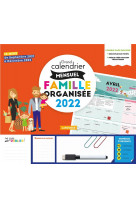 Grand calendrier mensuel  famille organisee 2022