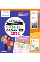Calendrier mensuel - famille organisee - 2022
