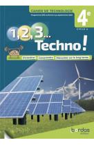 1, 2, 3 techno ! 4e 2021 - cahier de technologie eleve