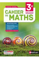 Cahier de maths 3e prepa-metiers - livre + licence eleve - 2021