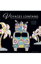 Black coloriage - voyages lointains
