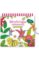 50 coloriages relaxants nature