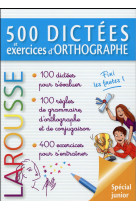 500 dictees et exercices d-orthographe
