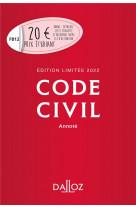 Code civil 2022 annote. edition limitee - 121e ed.