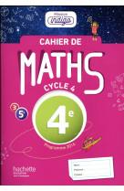 Cahier de maths mission indigo 4e - ed. 2017 - mathematiques