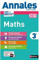 Annales brevet 2021 maths - corrige