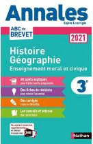 Annales brevet 2021 histoire geographie enseignement moral et civique - corrige