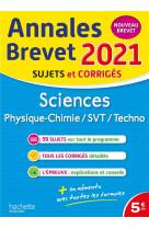 Annales brevet 2021 sciences