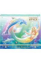 Animal style - cahier creatif sirenes et dauphins