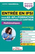 Entree en ifsi pour les as-ap et formation professionnelle continue (fpc) - mathematiques - 10 tutos