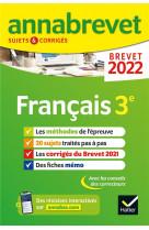 Annales du brevet annabrevet 2022 francais 3e - methodes du brevet & sujets corriges