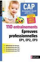 110 entrainements - epreuves prof. ep1 ep2 ep3 - cap accompagnant educatif petite enfance (efs)
