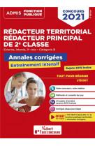 Concours redacteur territorial et redacteur principal 2e classe - categorie b - annales corrigees -