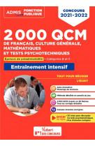 2000 qcm de francais, culture generale, mathematiques et tests psychotechniques - epreuve de preadmi