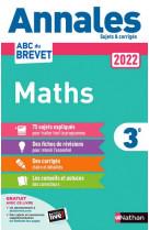 Annales brevet 2022 maths - corrige