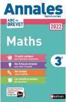 Annales brevet 2022 maths - non corrige - vol01