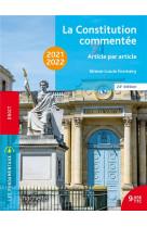 Fondamentaux  - la constitution commentee 2021-2022