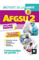 Afgsu 2 - metiers de la sante - 3e edition  - revision et entrainement