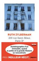209 rue saint-maur, paris xe - autobiographie d-un immeuble