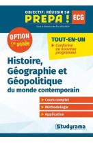 Histoire, geographie et geopolitique du monde contemporain - option 1re annee